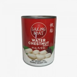 Water Chestnut Whole 567g. (Sailing Boat)