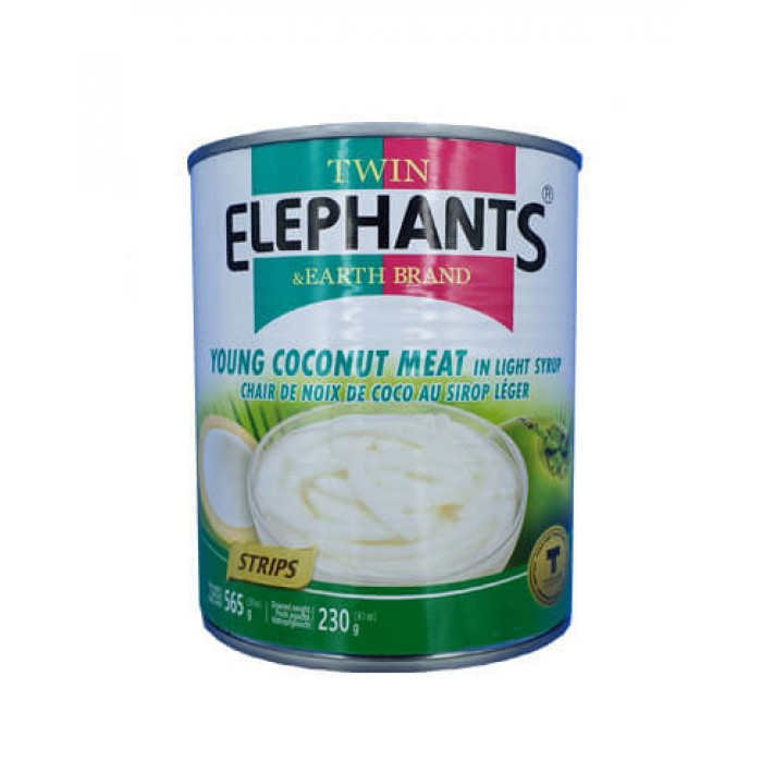 Young Coconut Meat in Syrup (Strips) 565g. (Twin Elephant)