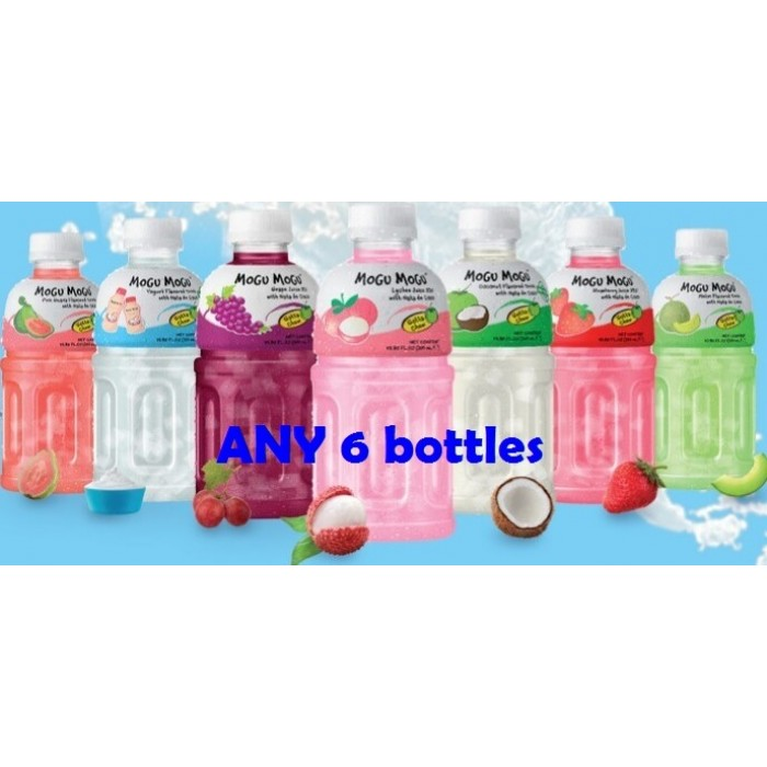 Mogu Mogu Drinks 6 bottles