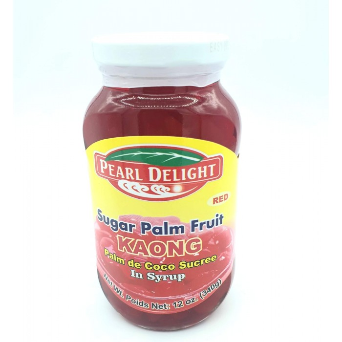KAONG Sugar Palm Fruit Red 340g. (Pearl Delight)