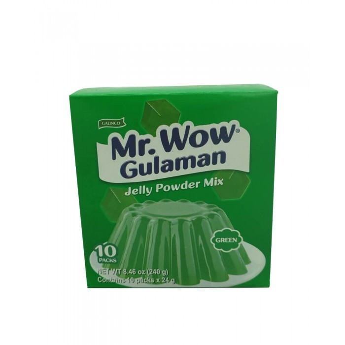 Mr. Wow Gulaman Green 1 box (10 pcs - 24g each)