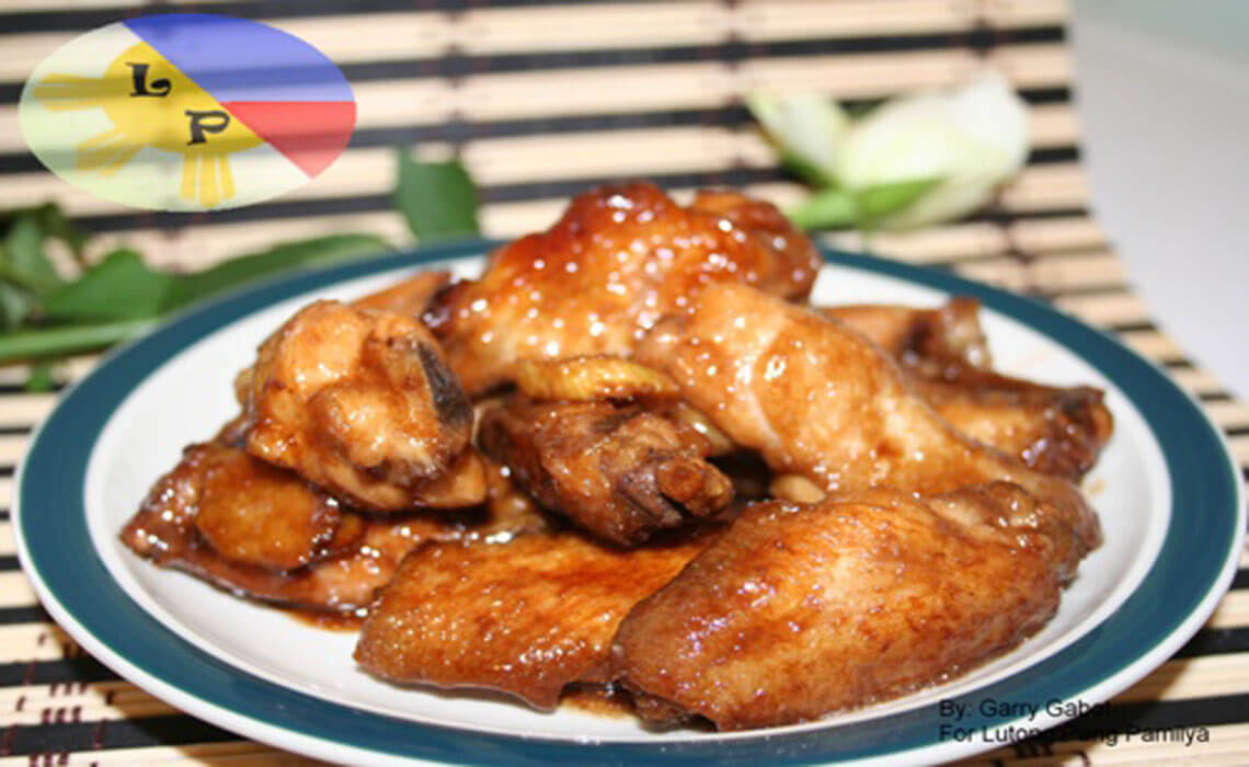 Chicken wings in oyster sauce
